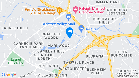 Homewood Suites by Hilton Raleigh - Crabtree Valley Map