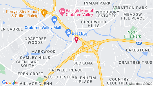 Red Roof Inn Raleigh - Crabtree Valley Map