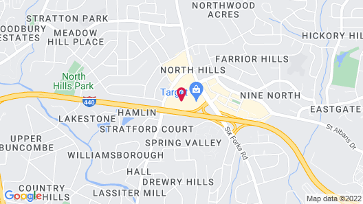 Renaissance Raleigh North Hills Hotel Map