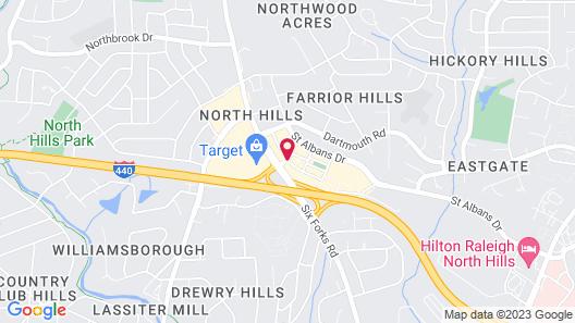 Hyatt House Raleigh North Hills Map