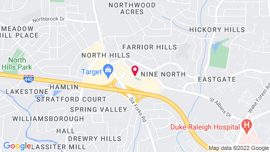 AC Hotel Raleigh North Hills Map