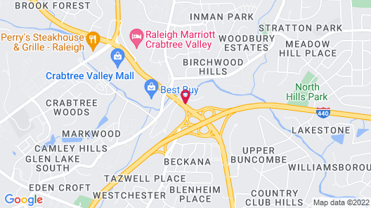 DoubleTree by Hilton Raleigh Crabtree Valley Map