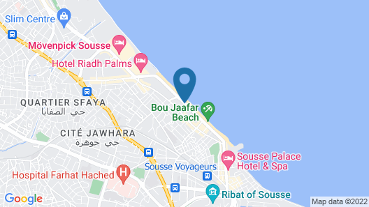 Sousse City And Beach Hotel Map