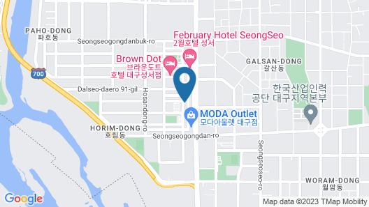 Daegu Seongseo Owall Hotel Map
