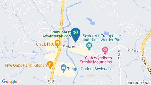Holiday Inn Express and Suites Pigeon Forge Sevierville, an IHG Hotel Map