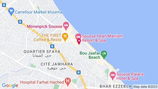Sousse Pearl Marriott Resort & Spa Map
