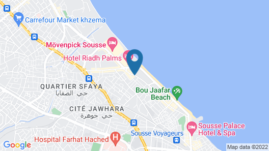 Sousse Pearl Marriott Resort & Spa Map