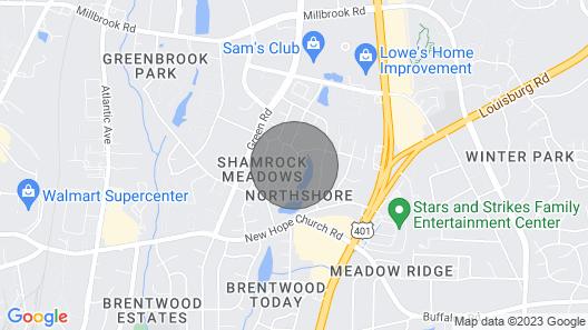 Modern Suite Near Downtown Raleigh Map