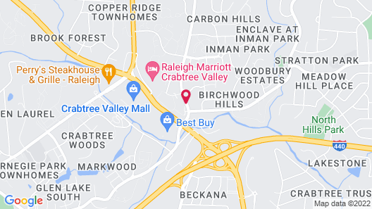 Candlewood Suites Raleigh Crabtree, an IHG Hotel Map