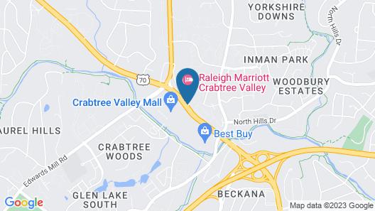 Raleigh Marriott Crabtree Valley Map