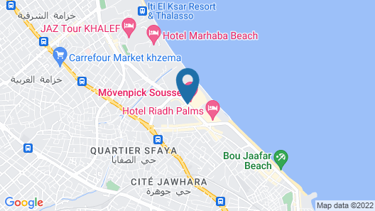 Movenpick Resort & Marine Spa Sousse Map