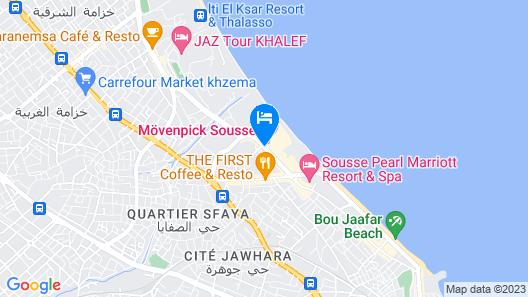 Movenpick Resort & Marine Spa Sousse Map