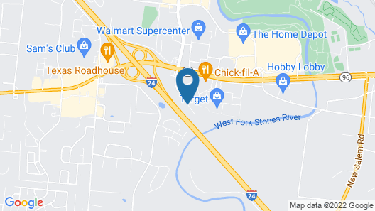Days Inn & Suites by Wyndham Murfreesboro Map