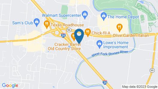 Holiday Inn Express Murfreesboro Central, an IHG Hotel Map