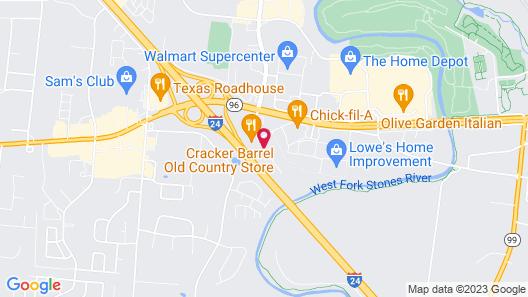 Microtel Inn by Wyndham Murfreesboro Map