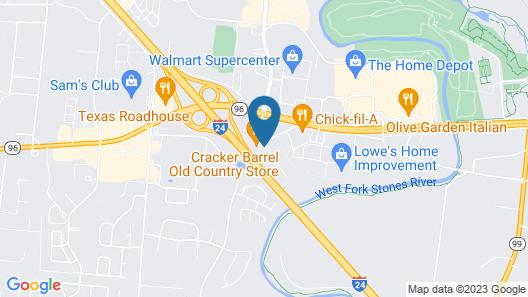 Motel 6 Murfreesboro, TN Map