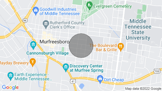 Murfreesboro's Manor on Main Map