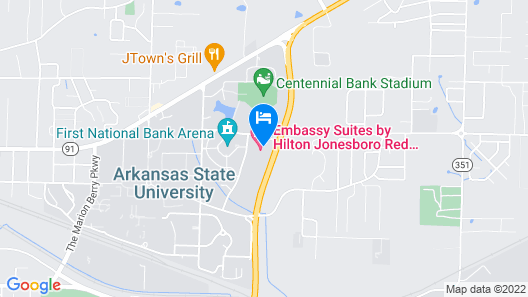 Embassy Suites by Hilton Jonesboro Red Wolf Convention Center Map