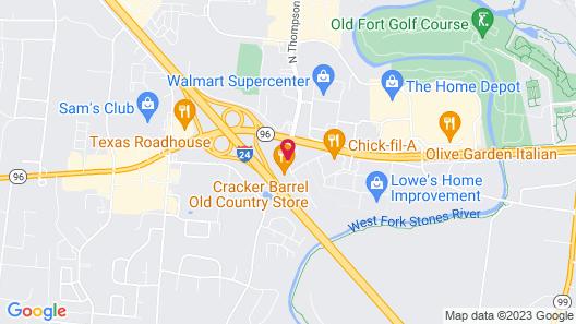 Super 8 by Wyndham Murfreesboro Map
