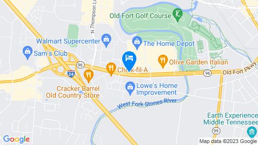 DoubleTree by Hilton Murfreesboro Map