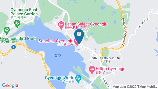Sono Belle Gyeongju (formerly Daemyung Resort Gyeongju) Map