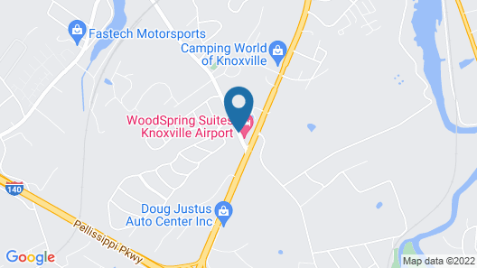 WoodSpring Suites Knoxville Airport Map