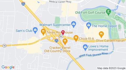 Baymont by Wyndham Murfreesboro Map