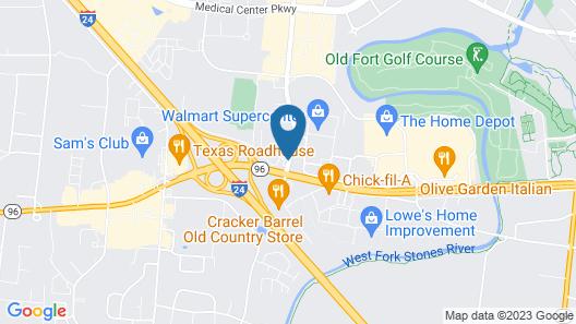 Comfort Suites Murfreesboro Map