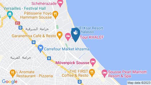 Jaz Tour Khalef Map