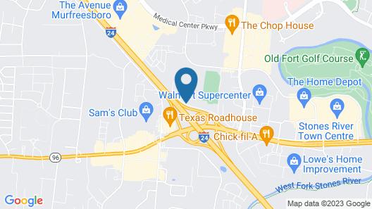 Red Roof Inn Murfreesboro Map