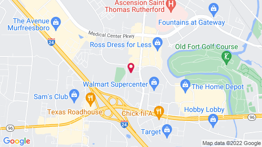 Hampton Inn & Suites Murfreesboro Map