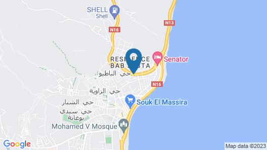 Villa Al Cudia Smir Map