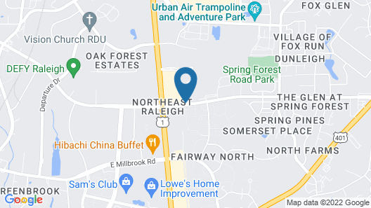 Hampton Inn Raleigh - Capital Blvd. North Map