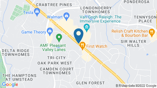 Best Western Plus Raleigh Crabtree Valley Hotel Map