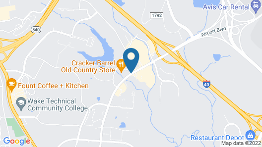 Extended Stay America - Raleigh - RDU Airport Map