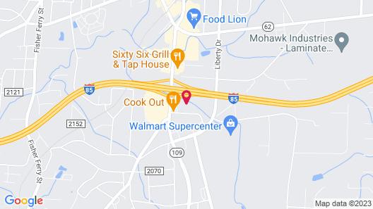 Stay Lodge Thomasville NC Map