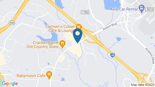 Hampton Inn Raleigh-Durham Airport Map