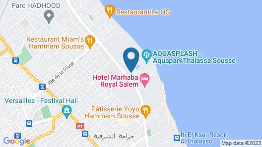 Thalassa Sousse Resort & Aquapark Map