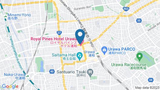 Royal Pines Hotel Urawa Map