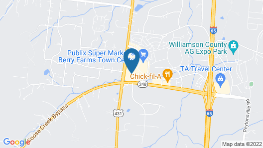 Hampton Inn & Suites Franklin Berry Farms Map