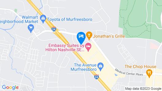 Hilton Garden Inn Murfreesboro Map