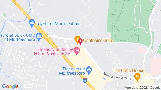 Courtyard Nashville SE/Murfreesboro Map