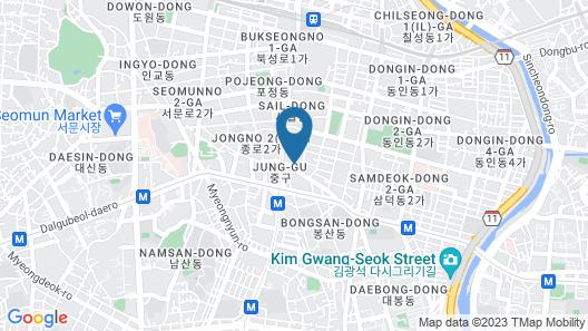 Toyoko Inn Daegu Dongseong-ro Map