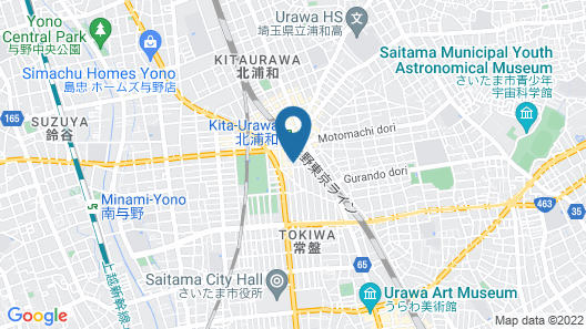 OYO Hotel Business Green Saitama Urawa Map