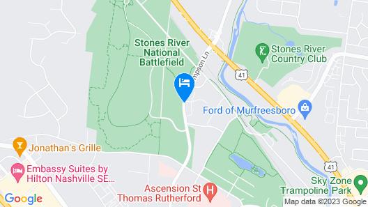 Candlewood Suites Murfreesboro Map