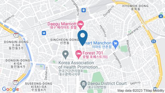 Daegu Dongdaegu Station 10th Street Map