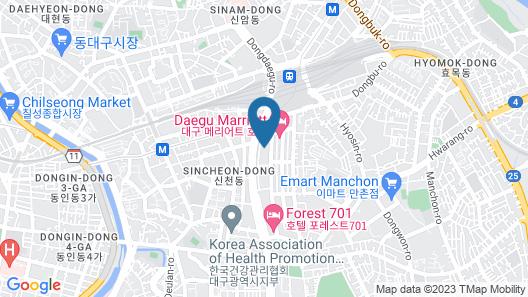 Dongdaegu Station Eastern Hotel Map