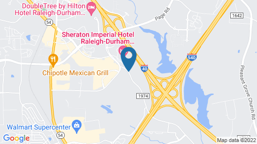SpringHill Suites by Marriott Raleigh-Durham Airport/Research Triangle Park Map
