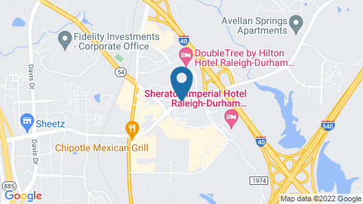 Comfort Suites Raleigh Durham Airport/Research Triangle Park Map