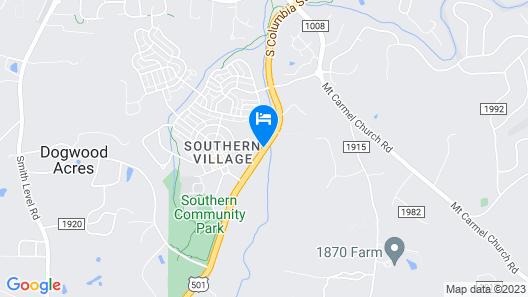 Hyatt Place Chapel Hill / Southern Village Map